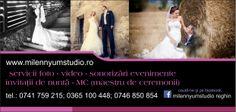 servicii foto video sonorizari evenimente invitatii de nunta maestru de ceremonii fum greu  detalii   www.milennyumstudio.ro