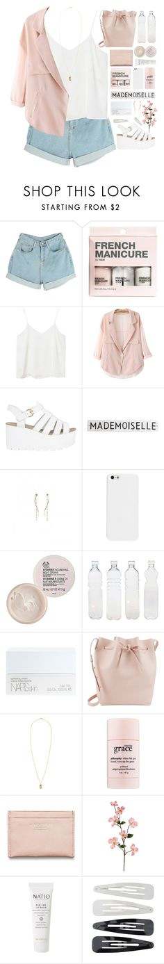"""MARIE"" by tania-maria ❤ liked on Polyvore featuring H&M, Monki, Rosanna, The Body Shop, Seletti, NARS Cosmetics, Mansur Gavriel, philosophy, Acne Studios and Natio"
