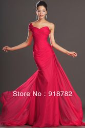Online Shop 2013 New Arrival Fashion Style Mermaid Chiffon Long Evening Dress Girls Red Evening Gown Aliexpress Mobile