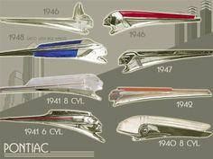 Pontiac Hood Ornaments 1940-48