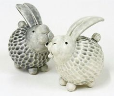Pinch pot bunnies