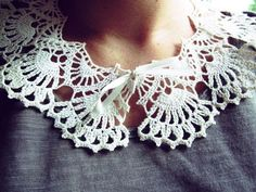 DIY Lace Collar: Made from a doily! / Blog Her