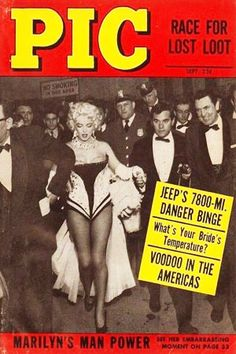 1950s September issue: Pic magazine cover of Marilyn Monroe .... #marilynmonroe #normajeane #vintagemagazine #pinup #iconic #raremagazine #magazinecover #hollywoodactress #1950s
