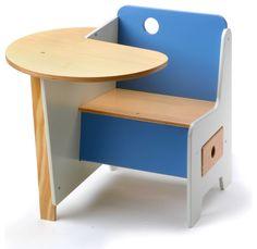 Mini-Drawer Doodle Desk, Blue - modern - Kids Desks And Desk Sets - Design Public School Furniture, Home Decor Furniture, Kids Furniture, Furniture Design, Kids Table And Chairs, Kid Table, Modern Kids Desks, Modern Desk, Woodworking Ideas To Sell