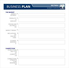 One Page Business Plan Template Free Word Pdf Documents Download - Business plan templates free downloads