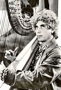 Harpo Marx, from the Marx brothers really could play the harp,he couldn't read music, so his brother Chico, who played the piano showed him what to play, he listened & improvised. (What a natural talent he had)