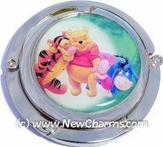 Big Winnie The Pooh Foldable Purse Hanger Handbag Table Hook New Charms. $6.99