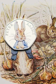 Peter Rabbit coin - from the Royal Mint, UK (I still have a French franc with the Little Prince on it, this would be so cool to have too.)