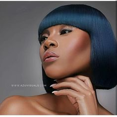 Best Bob Hairstyles for Black Women Pictures in 2019 - The UnderCut Black Bob Hairstyles, Sleek Hairstyles, Short Haircuts, Beautiful Hairstyles, Professional Hairstyles, Short Hair Styles Easy, Short Hair Updo, Dark Burgundy Hair Color, Long Asymmetrical Bob