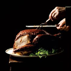 Chile-Rubbed Turkey with Beet Stuffing