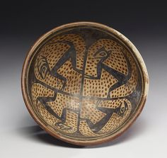 Footed Dish with Animal Motifs, Nariño (Tuza) (Artist) - AD 900-1500 (Late Period) - earthenware, slip paint