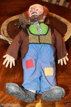 Mouse over image to zoom Have one to sell? Sell it yourself Vintage Emmett Kellys WillieThe Clown Doll 1950 era With Box Baby Barry Toy N YC This is a great item to collect Clowning Around, To Collect, Clowns, Daughter, Toy, Dolls, Things To Sell, Image, Collection