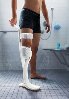 Lytra is an affordable prosthetic leg that allows below knee amputees to freely take shower.