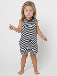Our summer version of a classic infant onesie in our popular contrast stripes.