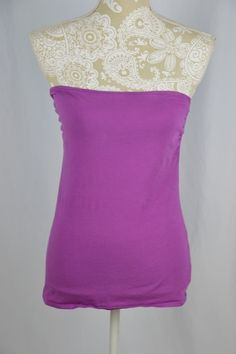 Victoria's Secret Medium Purple Bra Tops Best Kept Secret Strapless Tank Shelf #VictoriasSecret #TankCami #Casual