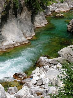 Incredible Blue-Green Water of the Valbona River, North Albania by David, via Flickr