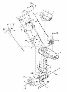 ariens 946501  000101  st622 6hp string trimmer schematics