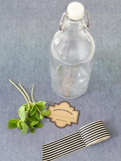 How to make mint-infused simple syrup.