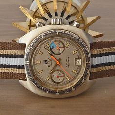 1970's Tissot [Swiss] 'Seastar Navigator' Vintage Chronograph Valjoux Cal. 7734