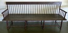American Antique Windsor Settle Bench, ca 1810-1820