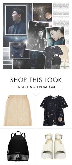 """""""shownu // monsta x"""" by black-galaxy ❤ liked on Polyvore featuring mode, River Island, Valentino, Michael Kors et The WhitePepper"""