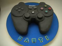 Torta Joystick Play Station | Pastelera Bakery Shop | Flickr Birthday Cake Kids Boys, Sons Birthday, Boy Birthday Parties, Video Game Party, Party Games, Manette Ps3, Beautiful Cakes, Amazing Cakes, Playstation Cake