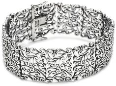 "Sterling Silver Oxidized Bracelet, 7.25"" #Sterling #Silver #Oxidized #Bracelet"