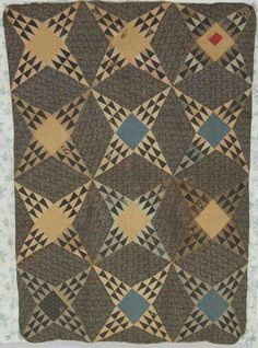 Mourning quilt--this is very lovely; don't think I've ever seen the long triangles like that