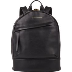 WANT Les Essentiels de la Vie Piper Backpack (4,160 MYR) ❤ liked on Polyvore featuring bags, backpacks, black, want les essentiels de la vie, padded laptop bag, black rucksack, pocket backpack and laptop pocket backpack
