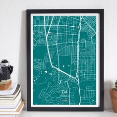 Enjoy Cali with our Street Map. Decorate your home with the city where you were born or your favorite. Map Wall Art, Map Art, Cali, Decorating Your Home, Colours, History, Street, Artwork, Prints