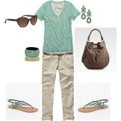 Untitled #28, created by sapple324 on Polyvore featuring the Stella & Dot - Capri Chandelier Earrings in Turquoise