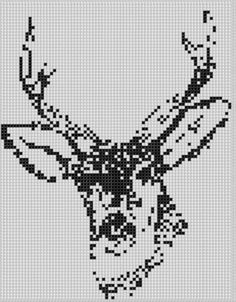 Deer Head Cross Stitch Pattern pattern on Craftsy.com