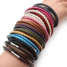 Only $19.97! Braided Leather B... http://simplyparisboutique.com/products/braided-leather-bracelet?utm_campaign=social_autopilot&utm_source=pin&utm_medium=pin