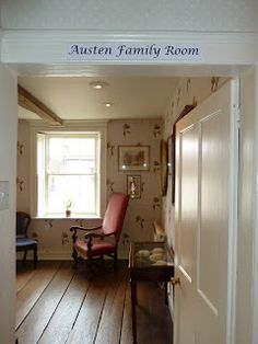 Austen family room, once Mrs. Austen's bedroom in Chawton Cottage. Stitching with Jane Austen, The Blog
