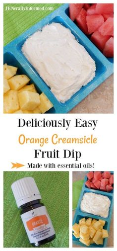 Deliciously Easy Orange Creamsicle Fruit Dip Made With Essential Oils – Jenerally Informed Try this deliciously easy orange creamsicle fruit dip infused with good for you essential oils! Fruit Appetizers, Appetizer Recipes, Dessert Recipes, Fruit Dips, Fruit Platters, Dip Recipes, Cooking With Essential Oils, Orange Creamsicle, Fruit Smoothies
