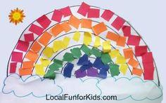 Mosaic Rainbows ~ Easy Preschool Craft - Crafts & Activities for Kids - LocalFunForKids Best Blogs for Local Fun, Easy Recipes, Crafts & Motherhood