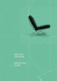 stylestrip:  barcelona chair poster