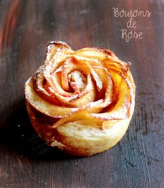 Rose feuilletée de pomme Holidays And Events, Eating Well, Peanut Butter, Garlic, Food And Drink, Apple, Vegetables, Cake, Sweet