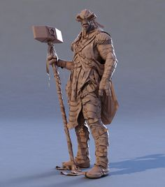 Guerreiro Alien - Escultura