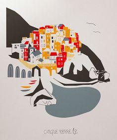Look at this #zulilyfind! Cinque Terre City Print #zulilyfinds