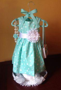 Dress diaper cake Girls diaper cake Baby by Gottagetadiapercake, $100.00