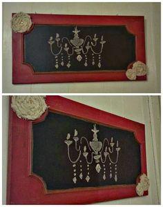 Red Shabby Chalkboard diy