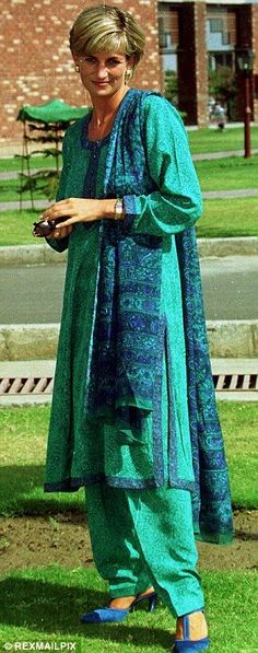 Diana, Princess of Wales arriving at Lahore Hospital in Punjab Pakistan for a visit in 1997.