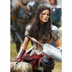 10 Ways Thor's Lady Sif Empowers Women Everywhere ❤ liked on Polyvore featuring marvel, avengers, jaimie alexander, thor and people