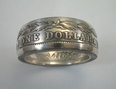 Coin Ring 1921 Morgan Silver Dollar Silver Coin by SpiritualFlyer