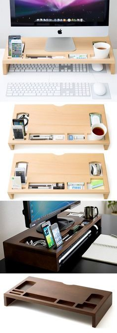 Pusu 4 Compartments Leather Valet/drawer Tray Office Desktop Stationery For Sund Refreshment Business & Industrial