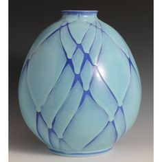 AIZOME KABIN (Flower Vessel with Blue Tint)