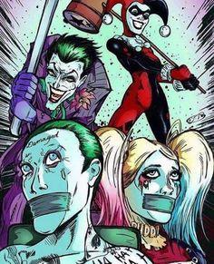Imagem de harley quinn, joker, and the joker