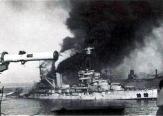 "Mers el Kebir. 3 Juillet 1940.  Le drame             de ""La Bretagne"""