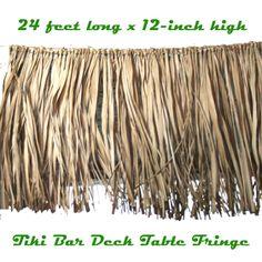 Luau decoration 24 real raffia deck fringe garland tropical tiki bar - 1000 Images About Luau On Pinterest Luau Party Scene